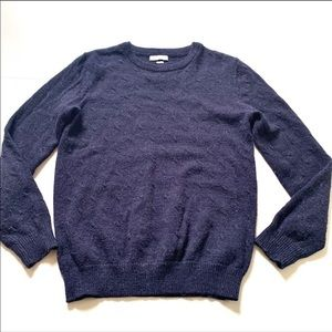 Selected homme Nicolai crew neck navy blue small